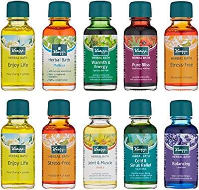 Kneipp Herbal Bath, Bath Time RX Set of 10 Travel Size Baths