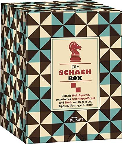 Die Schach-box: Enthält Holzfiguren, praktisches Ausklapp-Brett und Buch mit Regeln und Tipps zu Strategie & Taktik