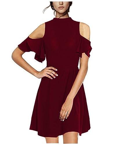Styleword Women's Summer Off Shoulder Casual Cute Dress