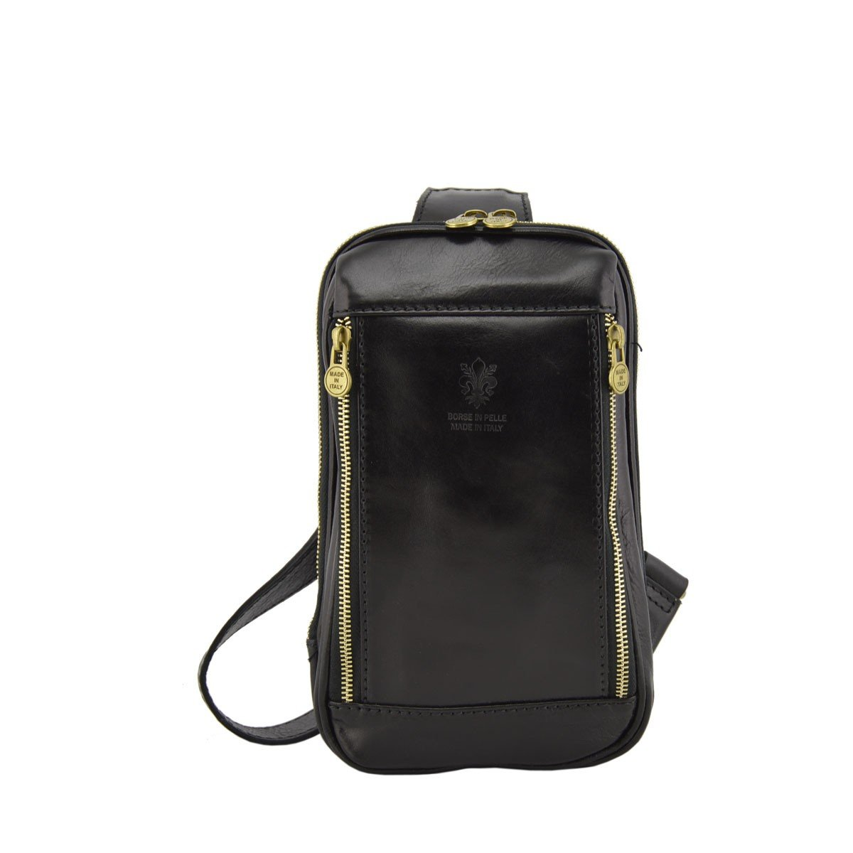 Dream Leather Bags Made in Italy Genuine Leather メンズ 516-1 US サイズ: 1 M US カラー: ブラック   B075KD7F9S