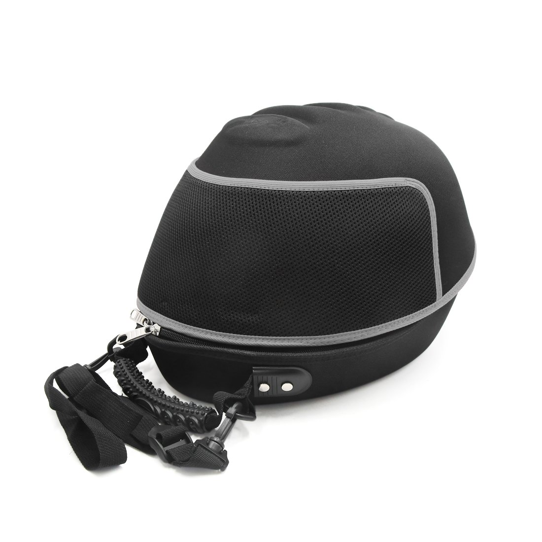 uxcell Black Gray Zipper Closure Case Bag Carrier Holder Backpack for Motorcycle
