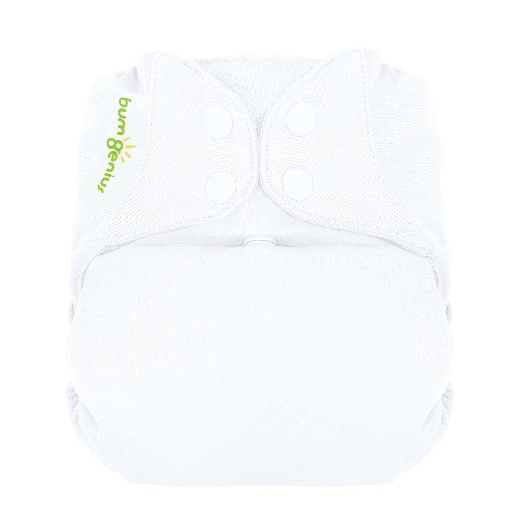 bumGenius オールインワン布おむつ ワンサイズ スナップボタン付き One-Size ホワイト 879860003601 B0072FREFA ホワイト ホワイト