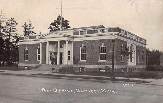 Bemidji Minnesota Post Office Real Photo Antique Postcard