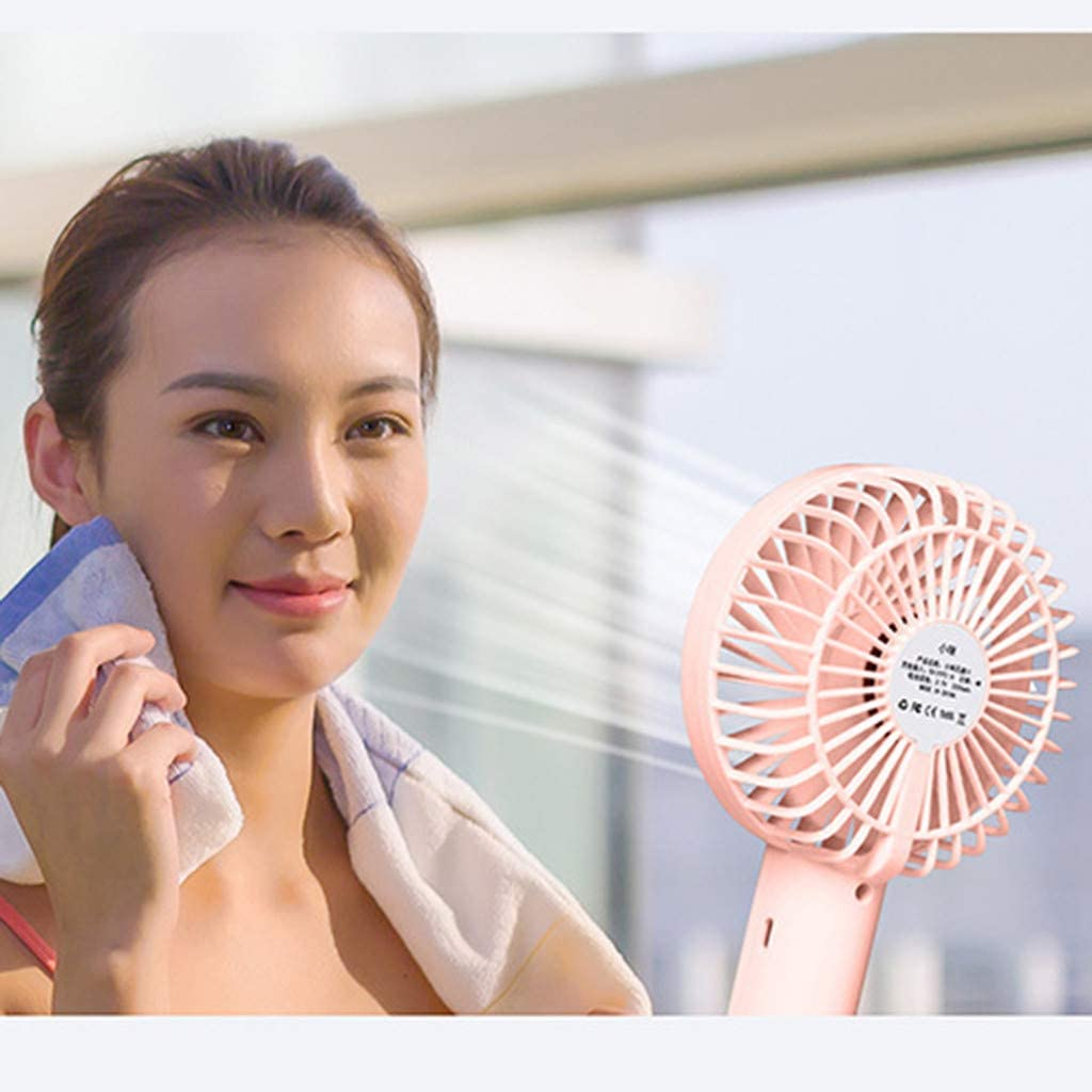 Portable Mini Fan with Display Screen USB Rechargeable Hand-held Cooling Fan Summer Essentials Low Noise Office Outdoor Travel Indoor
