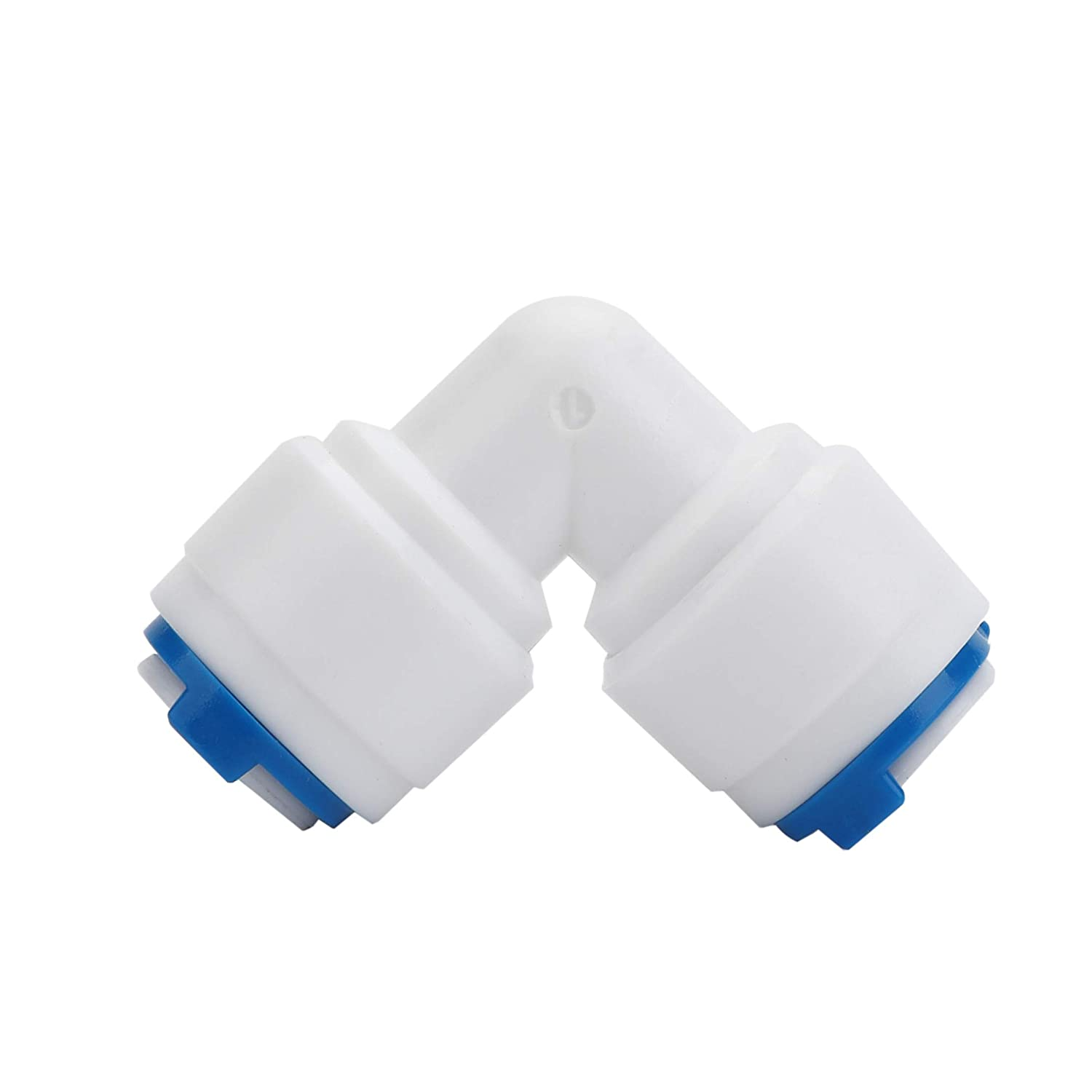 Eowpower 16Pcs 1//4 OD Quick Connect Push in to Connect Water Tube Fitting RO Water Reverse Osmosis Each of 4Pcs