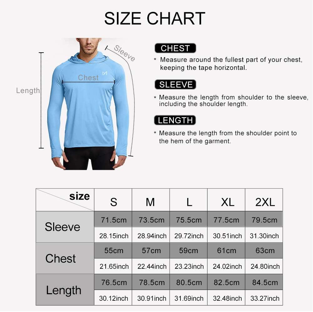 MEETYOO Rashguard Homme Tee Shirt Manches Longues pour Sports Running Surf Natation Plong/ée Plage T Shirt Anti UV UPF 50