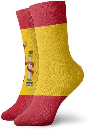 tyui7 Bandera de España Calcetines de compresión antideslizantes Cosy Athletic 30cm Crew Calcetines para hombres, mujeres, niños: Amazon.es: Ropa y accesorios