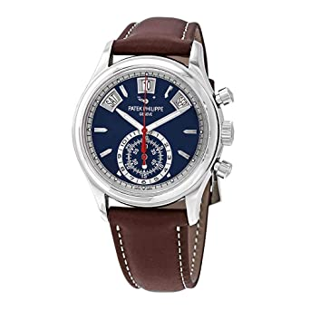 d65b0800181 Image Unavailable. Image not available for. Color: Patek Philippe  Complications Mechanical (Automatic) Blue Dial Mens Watch ...
