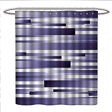 Anniutwo Striped Shower Curtain Customized Shades Of Purple Inspired Fragmentary New Artful Abstract Digital Pattern Art