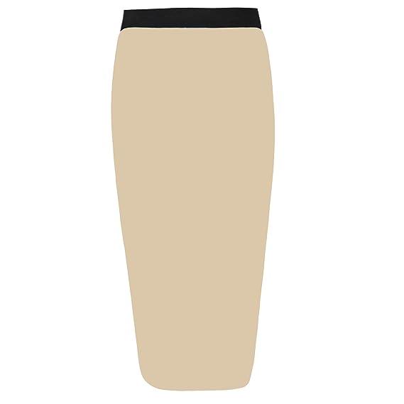 Falda Tubo elástica para señora con cintura elástica negra de ...