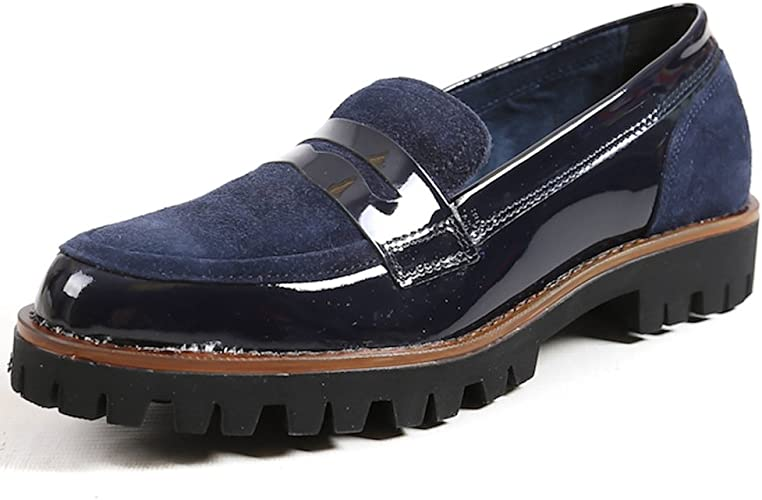 Patent Chunky Sole Loafers Womens Shoes