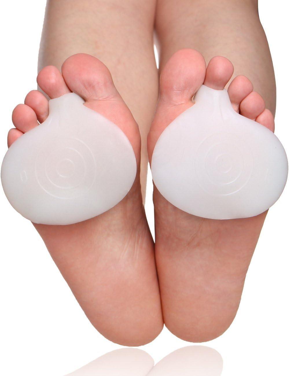 2 pares de almohadillas de pie para cojines de metatarsianos alivio del dolor - fascitis plantar y metatarsalgia Alivio inmediato del dolor, prevenir callos, ampolla