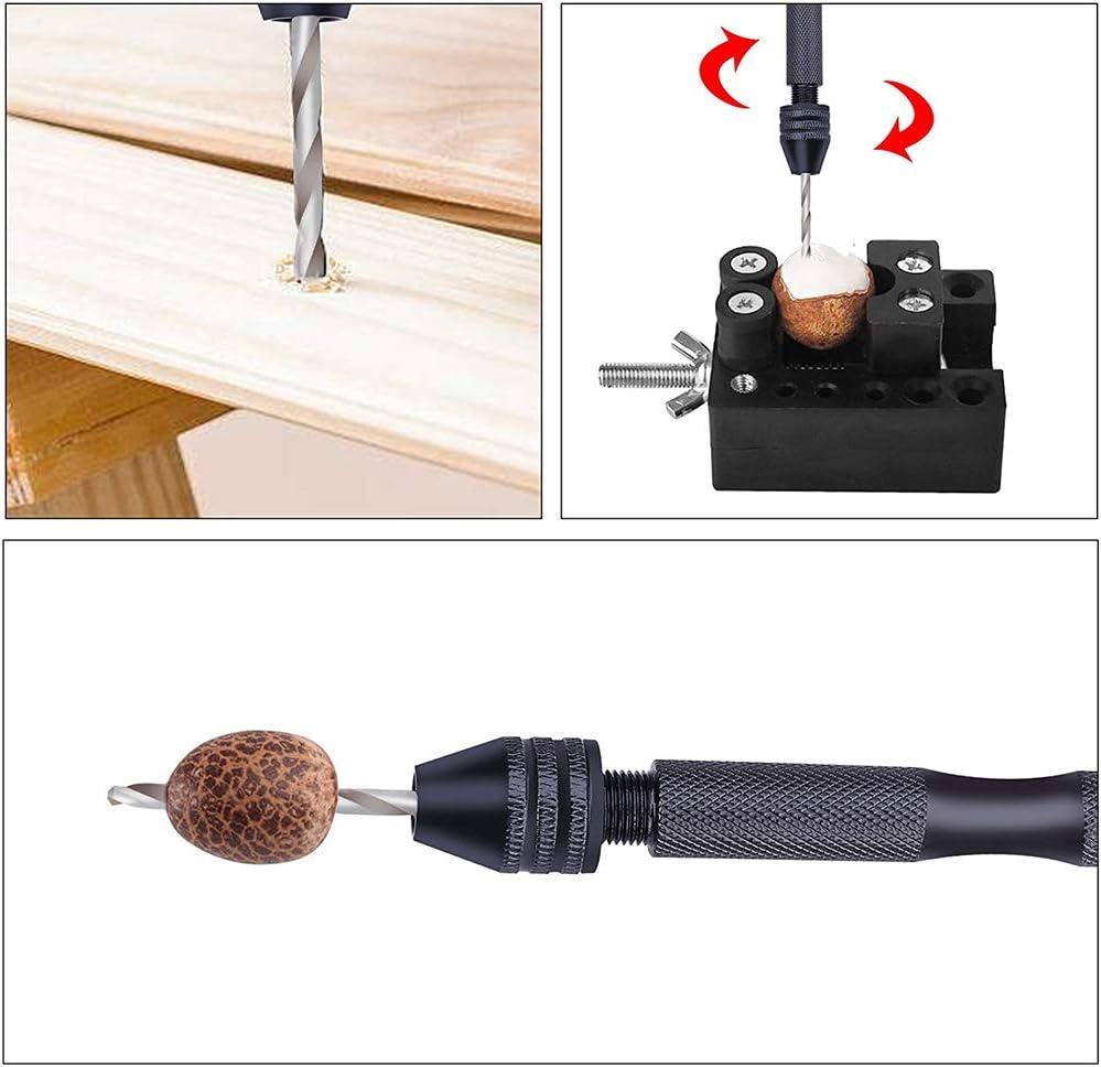 herramientas giratorias para madera etc. pl/ástico Juego de brocas de mano micro mini brocas con tornillo de mano de precisi/ón joyas 48 piezas de brocas de mano de pasador de mano