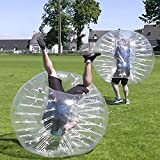 1.5m PVC Inflatable Bubble Ball Transparent Human Bumper Knocker Ball Bubble Soccer with Safety Rope for Children Teens Adults[US STOCK]