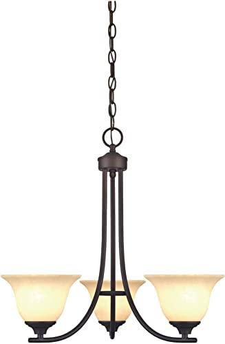Westinghouse Lighting 6221500 Kings Canyon Three-Light Interior Chandelier