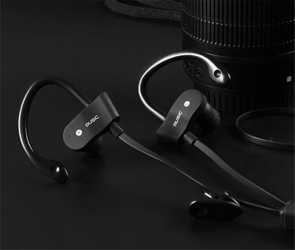 Bluetooth Headphones,XPLUS Bluetooth Earphones with Mic Bass Noise Cancelling, New Trent Bluetooth Sport HD Stereo Headset In-ear Earbuds Earphones with Flexible Ear Hooks (M5B)