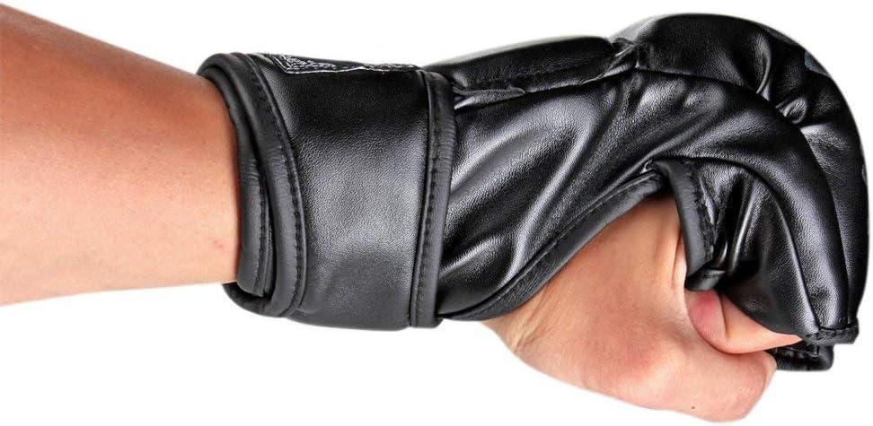 Muay Thai ZooBoo Gants MMA UFC avec mat/ériau /à Haute r/ésistance pour Homme et Femme Protection des Poignets sans Doigts pour entra/înement Boxe Kickboxing