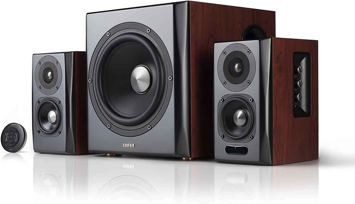 Edifier S350DB Bookshelf Speaker and Subwoofer 2.1 Speaker System Bluetooth v4.1 aptX Wireless Sound for Computer Rooms, Living Rooms and Dens