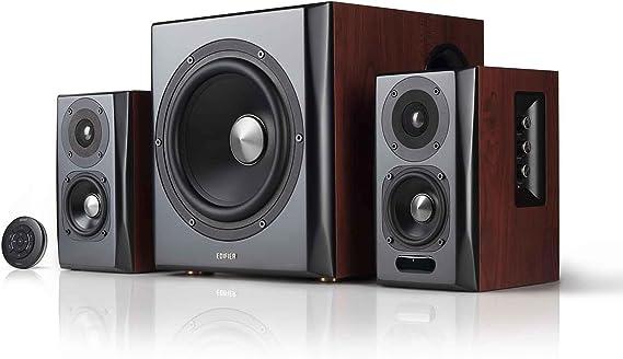 Edifier S350DB Bookshelf Speaker and Subwoofer 2.1 Speaker System Bluetooth v4.1 aptX Wireless Sound for Computer Rooms