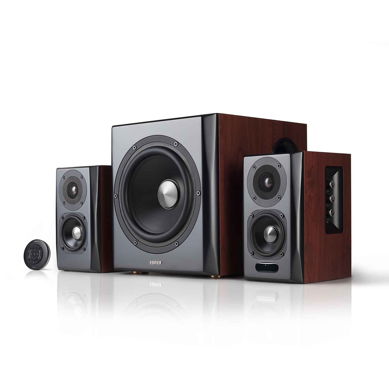 Edifier S350DB Bookshelf Speaker and Subwoofer 2.1 Speaker System Bluetooth v4.1 aptX Wireless Sound For Computer Rooms, Living Rooms and Dens by Edifier