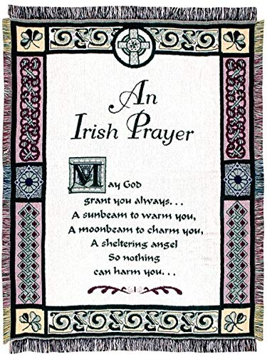 (Simply Home An Irish Prayer Religious Afghan Throw Blanket 48