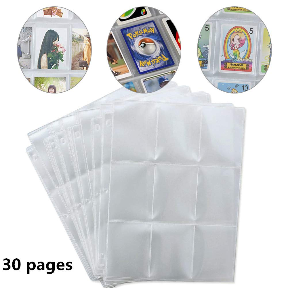 Lictin 450 Pockets Trading Card Sleeves Storage Wallets Album Pages Collection