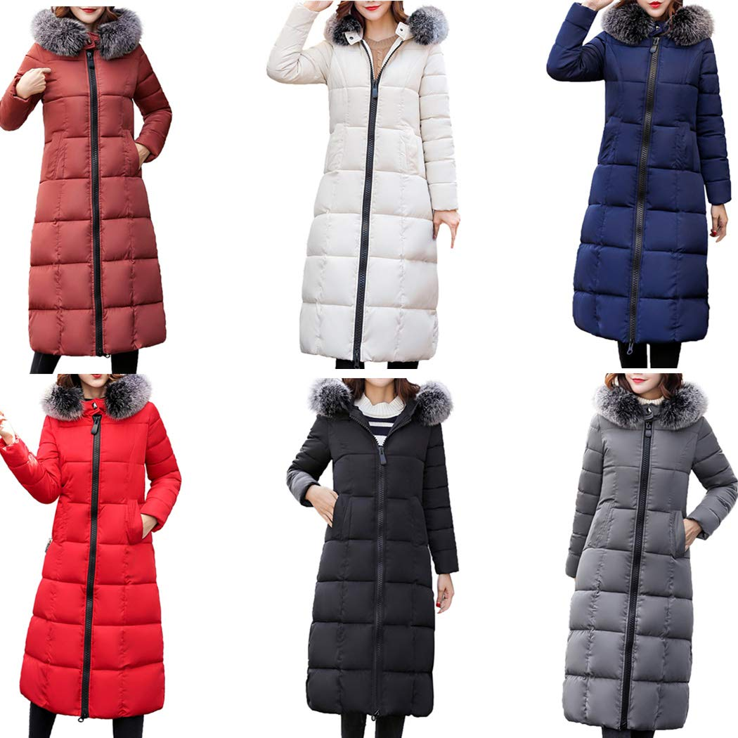 Amazon.com: DICPOLIA Women Winter Long Outerwear Jackets ...