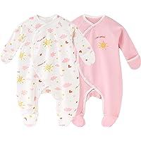 Daffjoe - Pijama para bebé (algodón, manga larga, 0-6 meses)