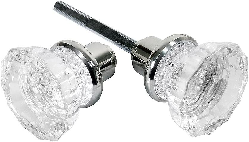 Perfect for... Defender Security E 2279 Mortise Style Fluted Glass Door Knobs