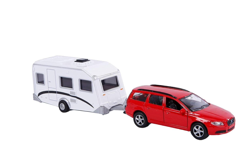 Volvo Car et caravane - couleur alé atoire Speelgoed 52.1630 B001AGMSY4