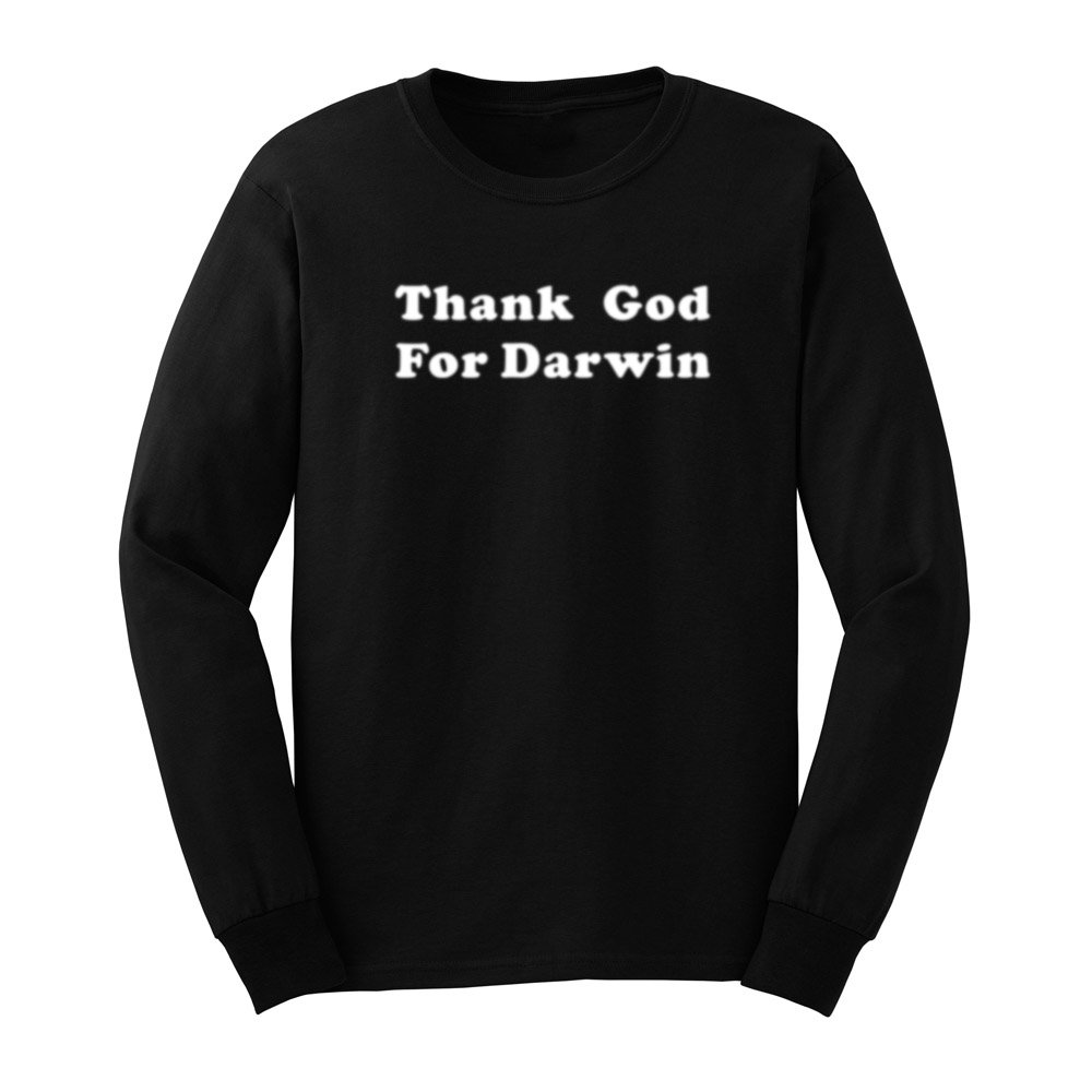 S Thank God For Darwin Evolution Science Funny T Shirts Tee