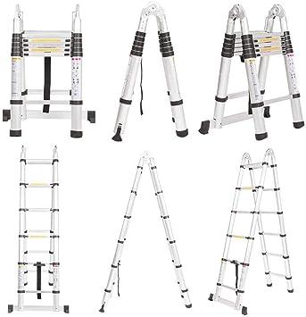 bxzcb Estante-Escalera-Soporte Escalera telescópica de aluminio multipropósito Escalera plegable portátil Extensión de escalera extensible (3.8M) Ayuda a alcanzar la altura deseada: Amazon.es: Bricolaje y herramientas