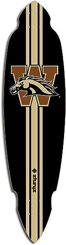 ztuntz skateboards Western Michigan University Pintail Longboard Deck, 9.5 x 37-Inch 26.5-Inch WB, Brown Black