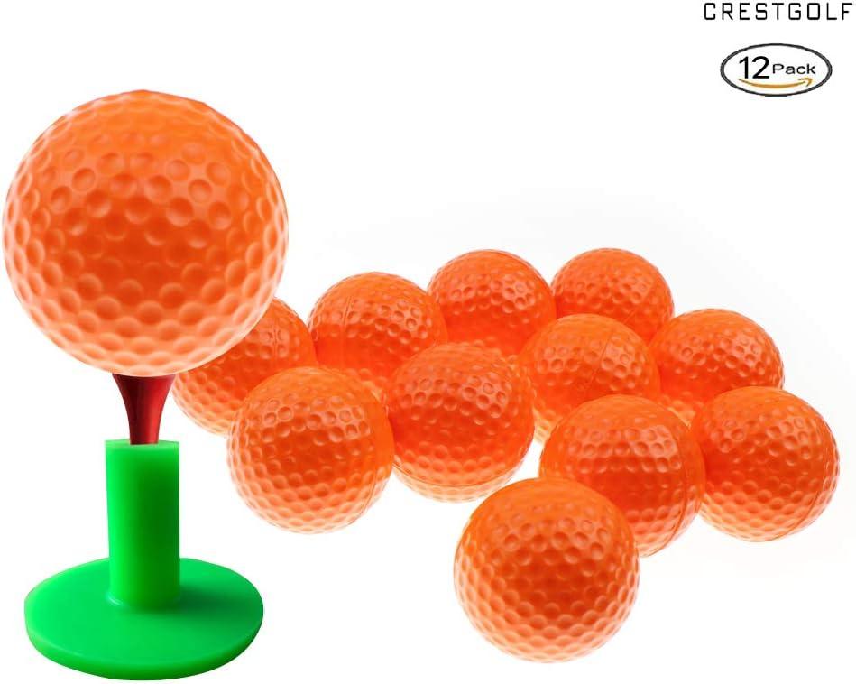 Crestgolf Foam Sponge Practice Golf Ball Soft Balls for Cats Kids 12 50 pcs per Bag