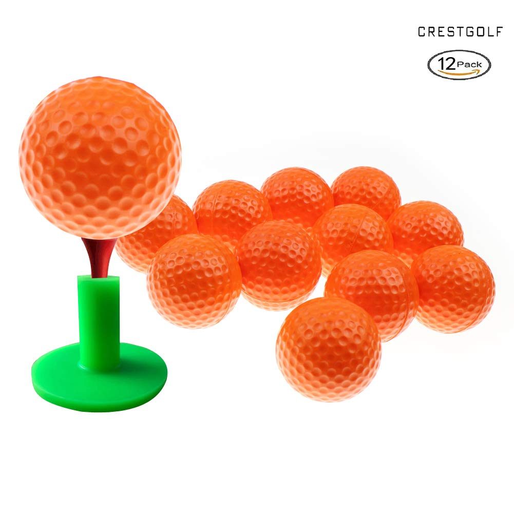 Crestgolf Foam Sponge Practice Ball 12 pcs per bag (orange) by Crestgolf