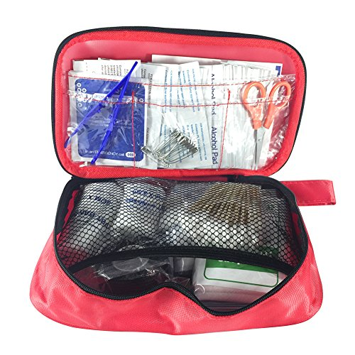 Acepstar 180 Pieces First Aid Kit, Compact Survival Medical Kit Emergency Bag for Home, Auto, Traveling, Hiking, Camping, Road Trips, Sport and Wilderness Survival
