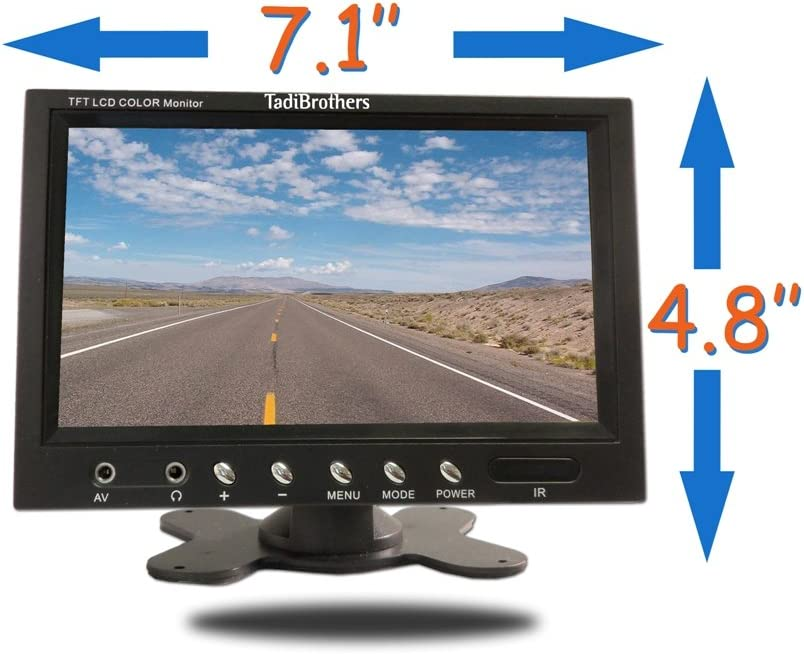 TadiBrothers 7 Inch Monitor with Wireless CCD Steel License Plate Night Vision Backup Camera