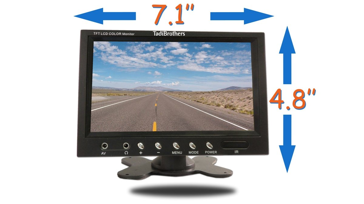 6144ousuQcL._SL1200_ amazon com tadibrothers 7 inch monitor with wireless mounted rv  at mifinder.co
