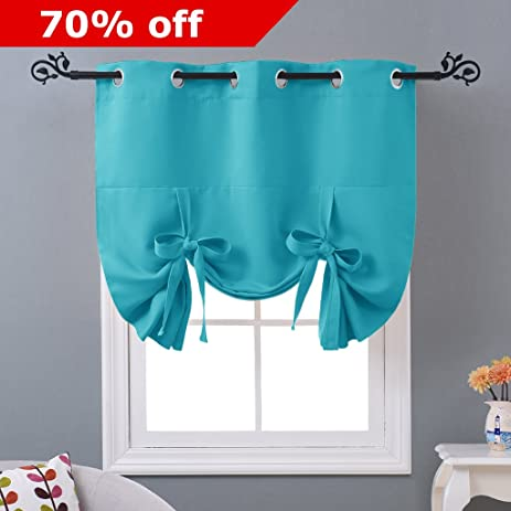 NICETOWN Thermal Insulated Turquoise Blackout Curtain