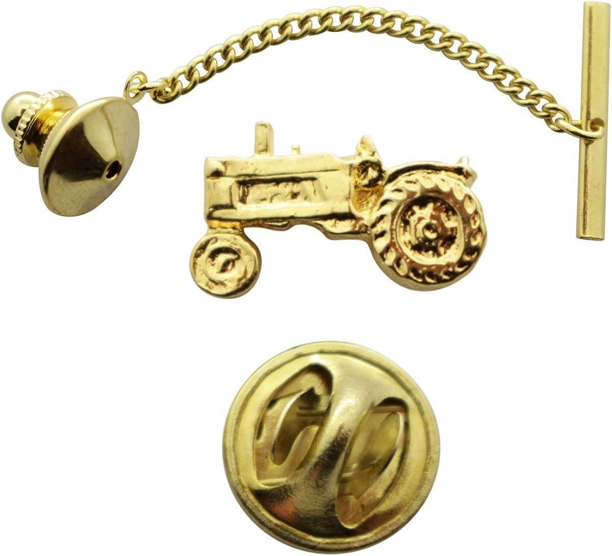 Sarah's Treats & Treasures Tractor Tie Tack ~ 24K Gold ~ Tie Tack or Pin