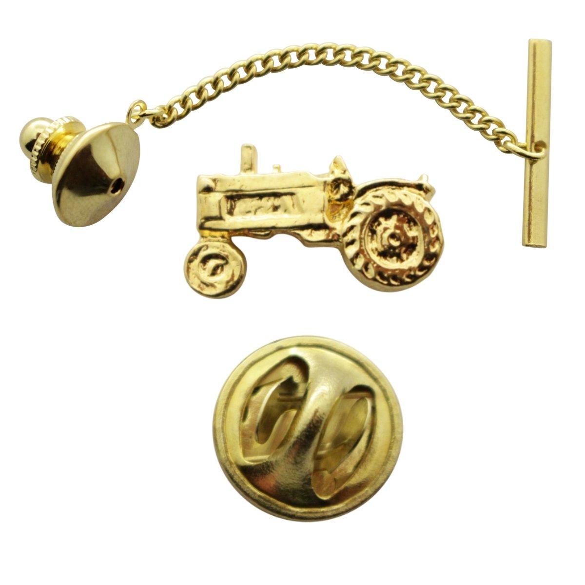 Tractor Tie Tack ~ 24K Gold ~ Tie Tack or Pin ~ Sarah's Treats & Treasures G.G. Harris STT-M935-G-TT