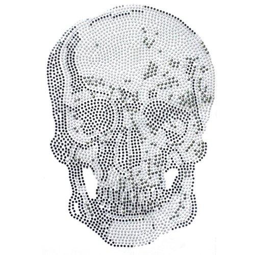 (Rhinestone Transfer Hot Fix T-shirt Clothing Crafts Cushion Jewellery Big Skull Story Design 1 Sheets 9.2 13.1 Inch)