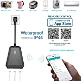 Outdoor Outlet,Rainproof WiFi Smart Socket with 3 AC Outputs Outlet,Smart Home Socket Timing Function Compatible with Alexa,Google Home & IFTTT,ETL FCC ROSH Listed (Outdoor Smart Outlet, Black)