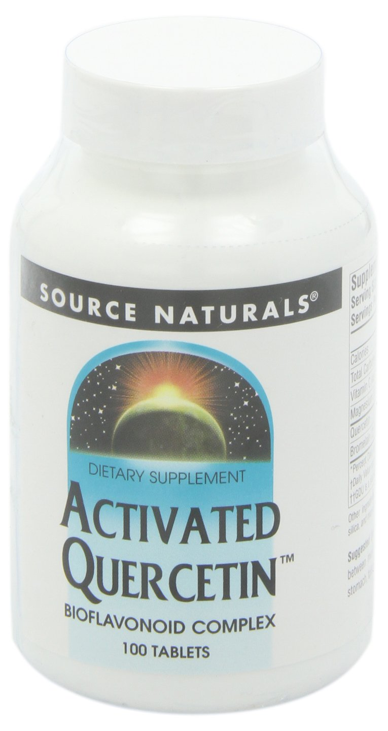 Source Naturals Activated Quercetin Bioflavonoid Complex Pineapple Enzyme With Bromelain, Magnesium & Vitamin C - 100 Tablets
