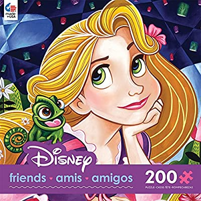 Ceaco Disney Friends Flowers in Her Hair Jigsaw Puzzle, 200 Pieces: Toys & Games