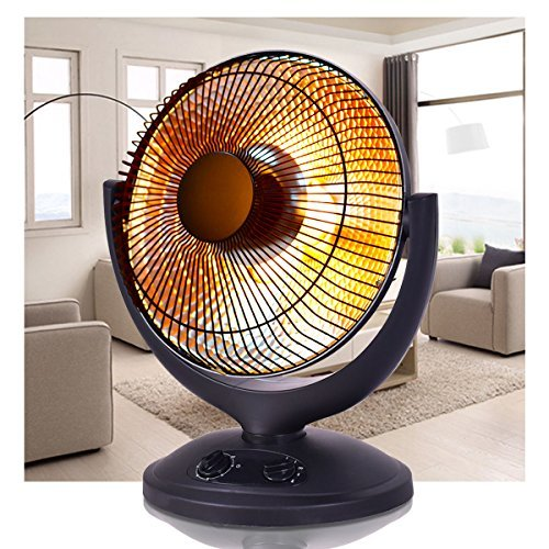 Furinho Bush - Electric Parabolic Oscillating Infrared Radiant Space Heater W/Timer Home office YRS 1256