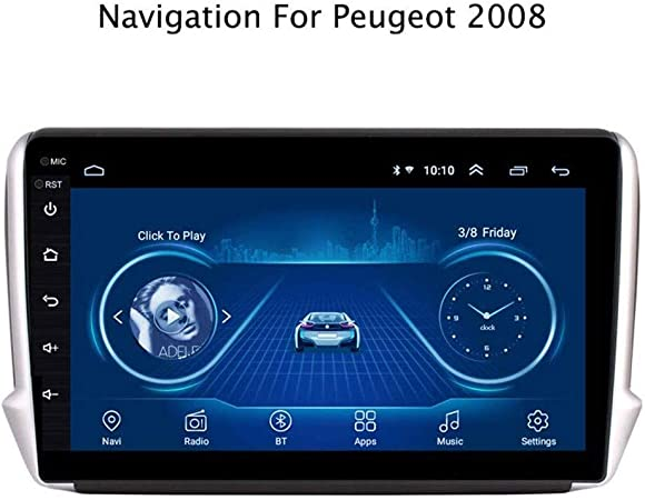 HWENJ Navegación GPS para El Coche Pantalla 2.5D Android 8.1 Coche GPS Multimedia para Peugeot 2008 Car DVD Player 2015 2016 2017 2018 con Radio Bluetooth Admite Múltiples Formatos Audio: Amazon.es: Hogar