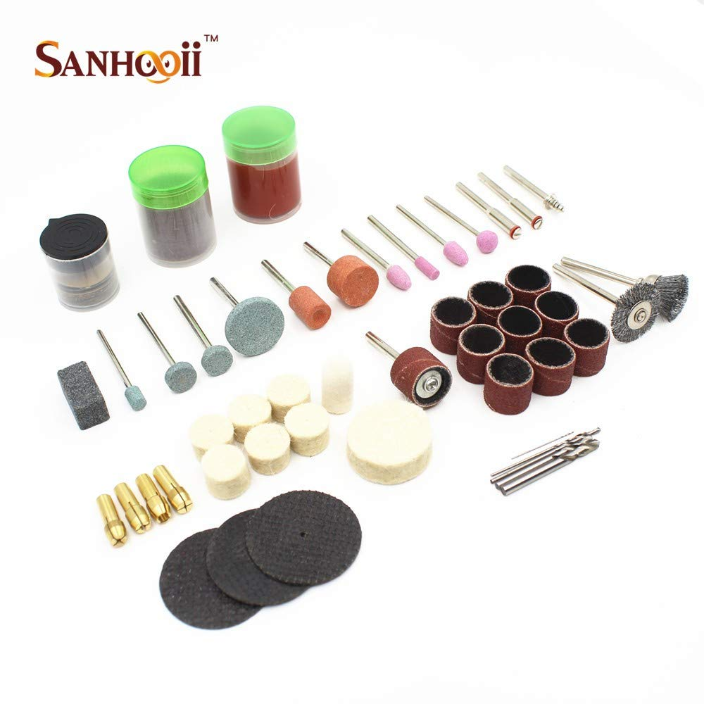 Sanhooii Rotary Tool Kit, Mini Electric Drill with 100 pcs Accessories by Sanhooii (Image #9)