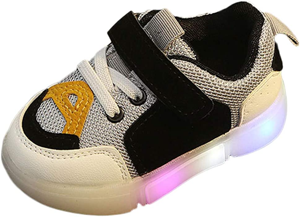 new arrival ad57d 536fd Goodtrade81 Casual Toddler Sport Running Baby Shoes Boys Girls LED Luminous  Sneakers