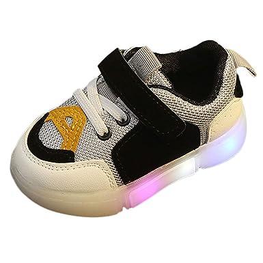 ❤ Zapatos Deportivos Luminosos para niños, bebés niños pequeños Chicas niños Lightning LED Zapatos Deportivos Luminosos Zapatillas de Deporte Absolute: ...